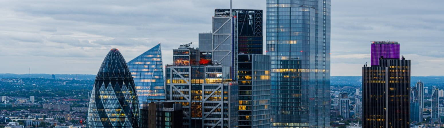 Financial Services skyline in London